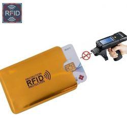 Banka kartları için koruyucu kılıf.