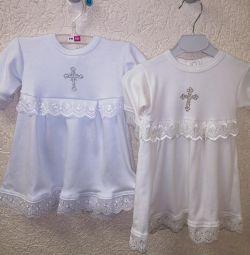 Новая крестильная рубашка