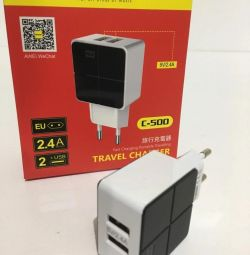 Адаптер Awei C-500 Travel charger 2 USB 2.4 A Blac