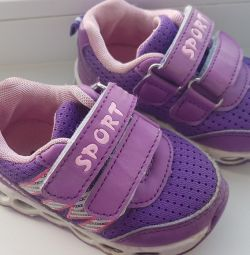 Sneakers children's for the girl