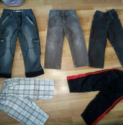 Jeans, breeches for 3-5 years