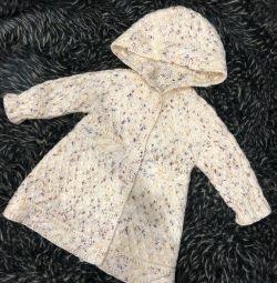 Καστανό παλτό για ένα κορίτσι 1-2 ετών