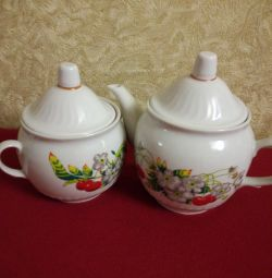 Kettle and sugar bowl new