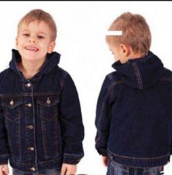Куртка джинсова для хлопчика зростання 110 (джінсовку)