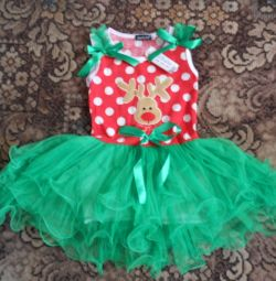 Festive dress from 2 to 7 years