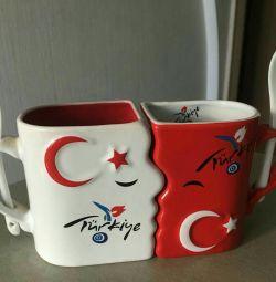 Чайная пара Турция ( идеальный подарок для влюблен