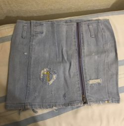 Mini fusta denim