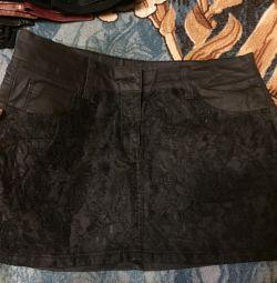 Νέα μίνι φούστα με δαντέλα 44 μέγεθος