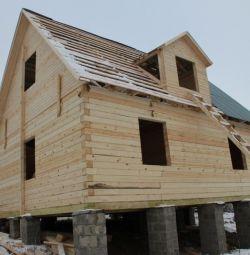 Ready log houses or baths.