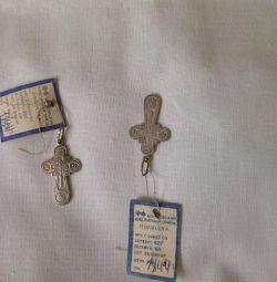 Два новых серебряных креста 925 проба
