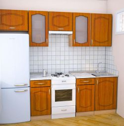 KITCHEN OF ASALIA 240 CM CHERRY MDF