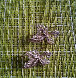 Серeжки серебро