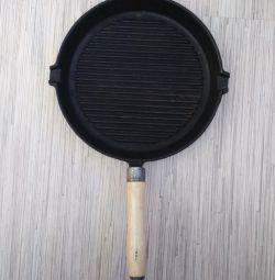 Frying pan GRILL Cast iron Diameter 24 cm