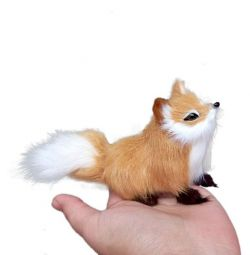 Toy fox model for game and interior