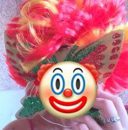 Новий карнавальний перуку клоуна петрушки