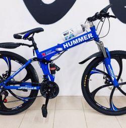 Bike on cast wheels