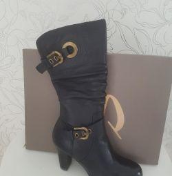 Boots new winter nat.kozha and nat.mekh
