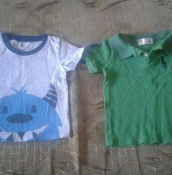 Tricouri pentru un băiat de 2-3 ani