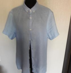 New men's linen shirt