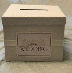 Счастливая свадебная коробка для денег