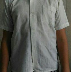 Рубашка, кремовая, р.34
