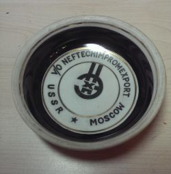 Ceramic ashtray of the USSR