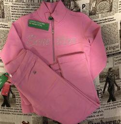 Κοστούμι πλεκτά για το κορίτσι της Benetton
