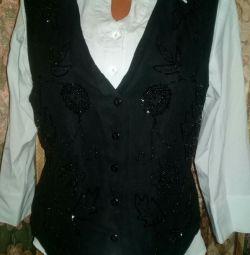 Waistcoat with beads