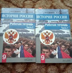 Workbook on the History of Russia grade 9 2 parts