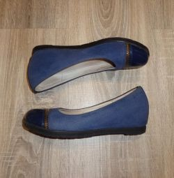 Chessford blue school shoes