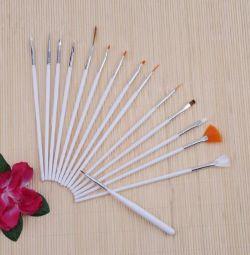 Brushes for nail design - 15pcs.