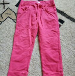 Trousers for a girl, 92cm