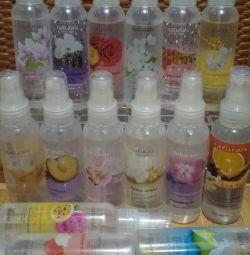 Sprayuri, șampoane, deodorante, luciu de buze, spumă etc