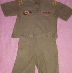Costum militar pentru băiat