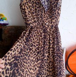Leopard dress.