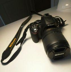 Nikon D5200 SLR Camera + Bag + Card PA