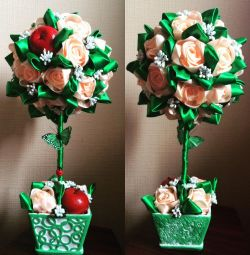 Ağaç Topiary Çiçekler