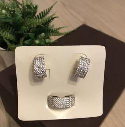 Mikro zirkonlu mücevher seti