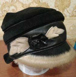 шапка замшева