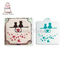 Στυλό για διακόσμηση ψησίματος Νέες γάτες με πεταλούδα