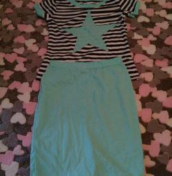 New set of T-shirt + skirt