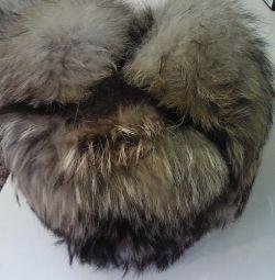 Raccoon hat.