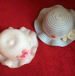 Шляпы детские на 4-6 лет новые