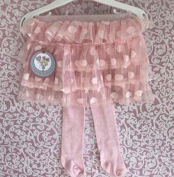 Новые юбочка-колготки от 0 до 1,5 лет