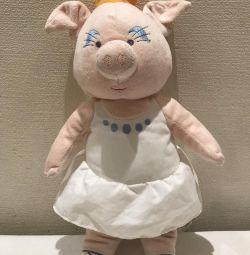 Символ года 2019. Мягкая игрушка свинья.Новая.