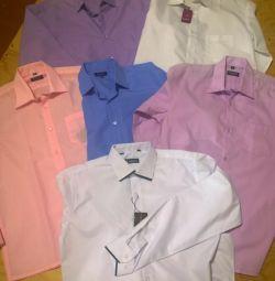 Рубашки мальчиковые. Рост 158