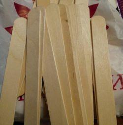 Spatulă de lemn nesterilizată