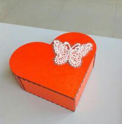 Decorative wooden handmade jewelry box