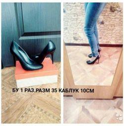 Black shoes p 35 heel 10cm