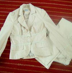 Yazlık pantolon takım elbise fin fler, M